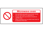 Microwave oven safety label.