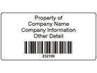 Scanmark barcode label (black text), 38mm x 76mm