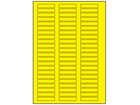 Yellow polyester laser labels, 10mm x 50mm