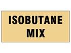 Isobutane mix pipeline identification tape.