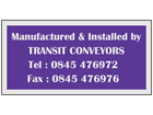 Anodised Aluminium Nameplate (Single Colour), 25mm x 50mm.