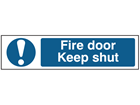 Fire door Keep shut, mini safety sign.