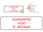 Guarantee void if broken label