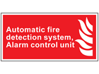 Automatic fire detection equipment symbol and text sign