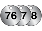 Aluminium valve tags, numbered 76-100