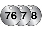 Aluminium valve tags, numbered 76-100