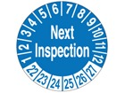 Next inspection due month and year label