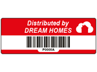 Scanmark barcode label (logo / full design), 19mm x 50mm
