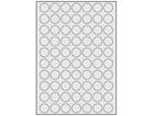 Silver polyester laser labels, 24mm diameter