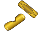 Brass connectors.