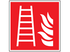 Fire ladder symbol safety sign.