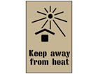 Keep away from heat stencil