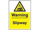 Warning slipway sign.