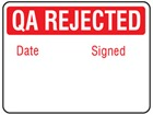 Jumbo QA Rejected label - 250 pack