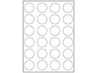 White polyester laser labels, 40mm diameter