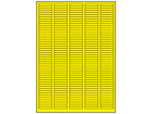 Yellow polyesters laser labels, 6mm x 35mm