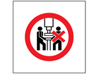 One person operation only symbol safety sign.