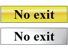 No exit metal doorplate