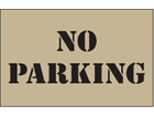 No parking heavy duty stencil