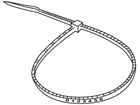 Serial numbered nylon cable ties, clear