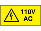 110V AC Electrical warning label