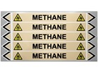 Methane flow marker label.