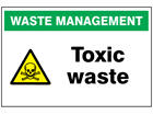 Toxic waste sign.