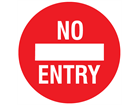 No entry floor marker