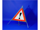 Other danger ahead roll up road sign