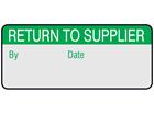 Return to supplier aluminium foil labels.