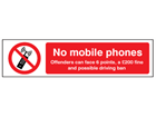 No mobile phones safety label.