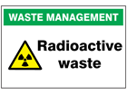 Radioactive waste sign.