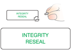Integrity reseal label