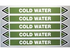 Cold water flow marker label.
