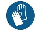 Hand protection symbol label