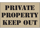 Private property, keep out heavy duty stencil