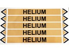 Helium flow marker label.