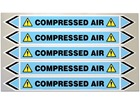 Compressed air flow marker label.