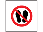 Do not step here symbol safety sign