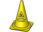 Caution floor cleaning in progress cone, 495mm high