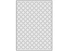 Silver polyester laser labels, 20mm diameter