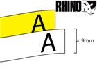 Dymo Rhino non adhesive tag tape (9mm)