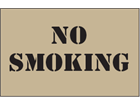 No smoking heavy duty stencil