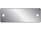 Blank aluminium nameplate, 26mm x 76mm
