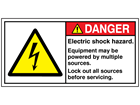 Electric shock hazard label