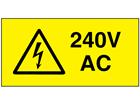 240V AC Electrical warning label