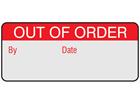 Out of order aluminium foil labels.