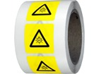 Warning UV symbol labels.