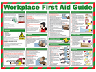 Workplace first aid guide poster.