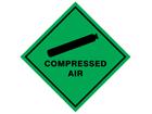Compressed air hazard warning diamond sign